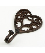 Cast Iron Heart Single Wall Mount Hook - $7.91