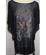 Uptown Girl Gold Highlights T-Shirt Tank & Sheer Over NWT Women's SZ Med... - $9.99