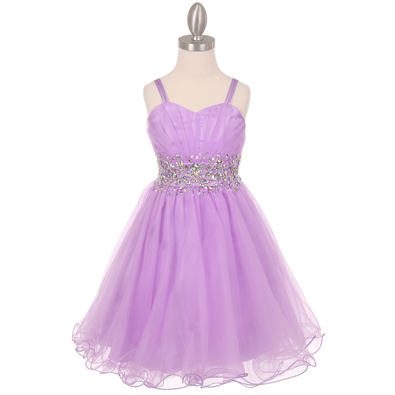 Jade Tulle Wired Dress Pleated Bodice AB Stone Corset Style Flower Girl Dress