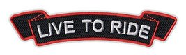Motorcycle Jacket Embroidered Patch - Live To Ride (Black, Orange) - Ves... - $6.99