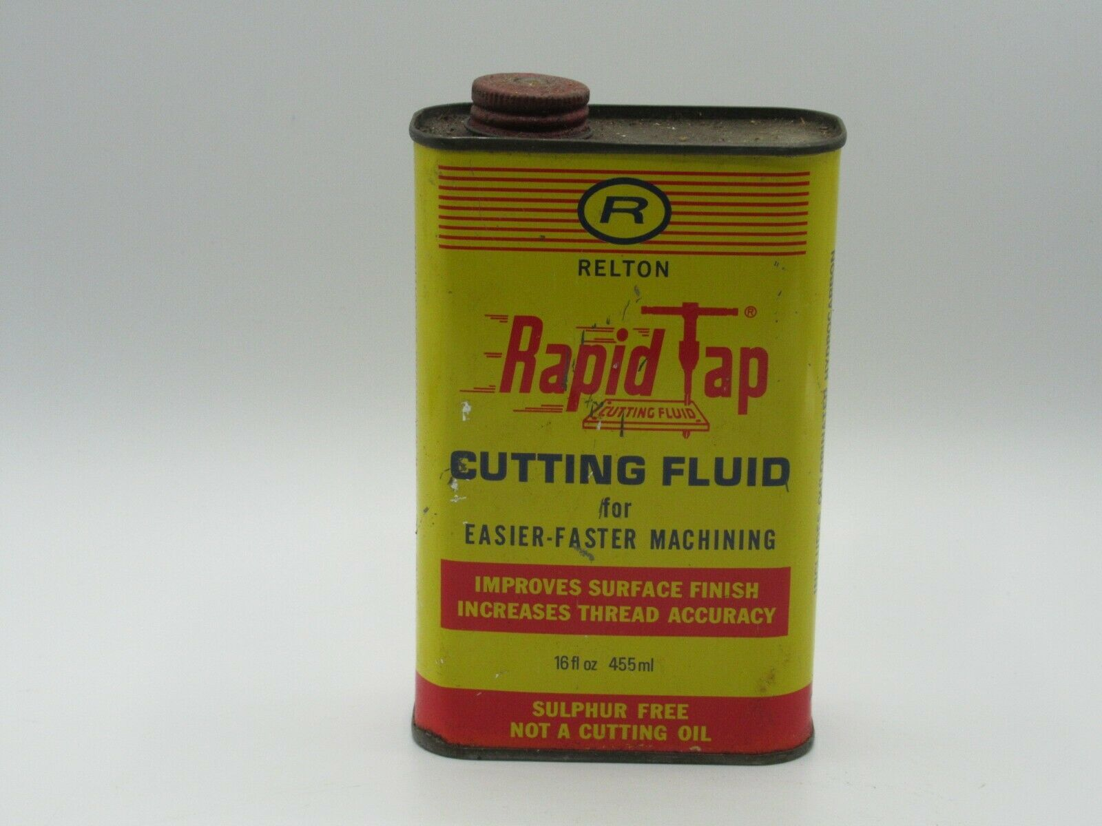 Primary image for Rapid Tap Cutting Fluid 16 oz - Motor Oil Tin Can Empty VTG