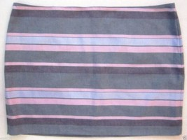 Gap Grey Blue Pink Striped Skirt Size 14 NWT - $17.81
