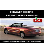 CHRYSLER SEBRING 2001 - 2006  FACTORY OEM SERVICE REPAIR WORKSHOP MANUAL