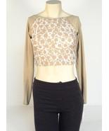Michael Kors Khaki Long Sleeve Cover-up Rash Guard Rashguard Women's NWT - $44.99