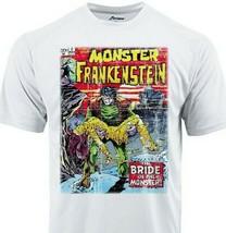 Frankenstein  Dri Fit graphic Tshirt moisture wicking superhero comic SPF tee image 1