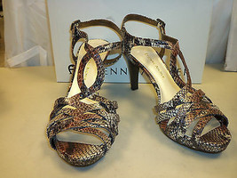 Etienne Aigner New Womens Orion Brown Black Snake Heels 5.5 M Shoes  - $68.31