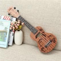 Soprano Ukulele 21 inch 15 Frets Uke 4 Nylon Strings Rosewood Dolphin Pa... - $48.89