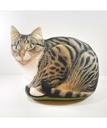 Vintage Fabric CAT DOORSTOP / Pillow Lesley Anne Ivory 1999 Gray Tabby - $49.50