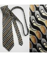 Carlos Devenezia Roma Barcelona Hand Made Silk Mens Necktie Black Brown ... - $8.90
