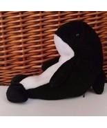"Ty Beanie Waves Whale 7"" Plush Toy Stuffed Animal 1996 Retired - $7.69"
