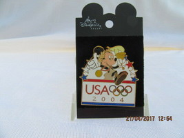 WDW 2004 USA OLYMPIC LOGO-MICKEY WITH TORCH PIN - $18.00