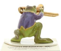 Hagen-Renaker Miniature Ceramic Frog Figurine Toadally Brass Band Trombone image 2