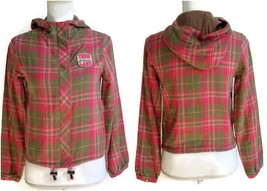 Timberland Girls Hooded Jacket Size Large Pink & Green Plaid Coat New - $29.99