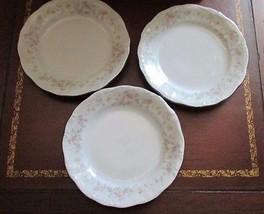 "Lot 3 6.25"" bread butter Plates Johann Haviland Floral Splendor Bavaria Germany - $12.99"