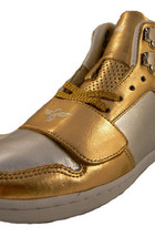 Creative Recreation Womens Gold Silver Cesario Hi Top Gym Shoes Sneakers 6US NIB image 2