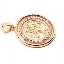 Anhänger Baum des Lebens in Gold 18K 750 Pink und Zirkonia Kubische - $206.73