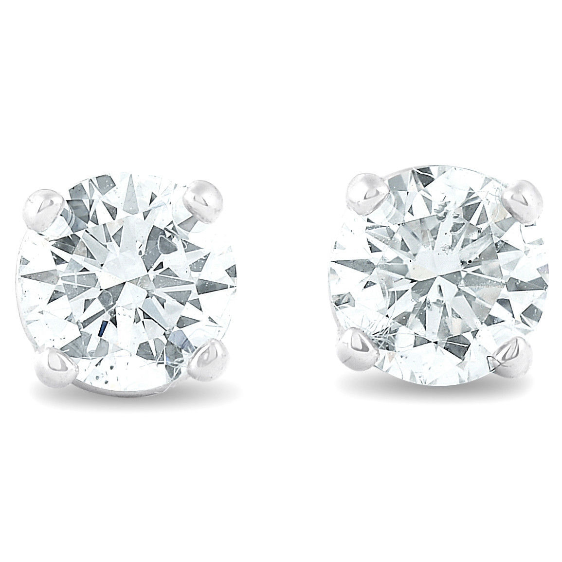 0.40 ct Diamond Studs For Engagement 14K White Gold Finish 925 Sterling Silver - $40.99