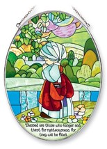 Amia Precious Moments Suncatcher, Blessed are Those Who Hunger and Thirs... - $56.82