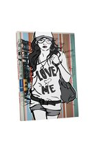 "Pingo World 0707Q52WT3A ""Love Me Tee Fashion"" Gallery Wrapped Canvas Wall Art, 2 - $43.51"