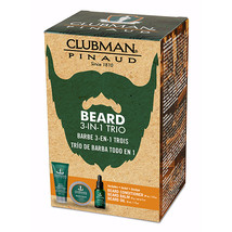Clubman Pinaud Beard Kit Includes Conditioner Balm & Oil BEARD 3 IN 1 KIT  image 2
