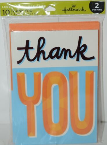 Hallmark WWZ1007 Thank You Cards 5 Each of 2 Designs Pkg 10