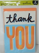 Hallmark WWZ1007 Thank You Cards 5 Each of 2 Designs Pkg 10 image 1