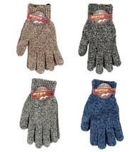 12 Pack  Men's knit Warm Winter Gloves Wholesale lot One Size Fits Most - $23.63
