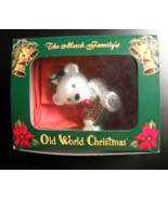 Merck Family's Old World Christmas Ornament 2010 Teddy Bear OWC Heart Boxed - $11.99