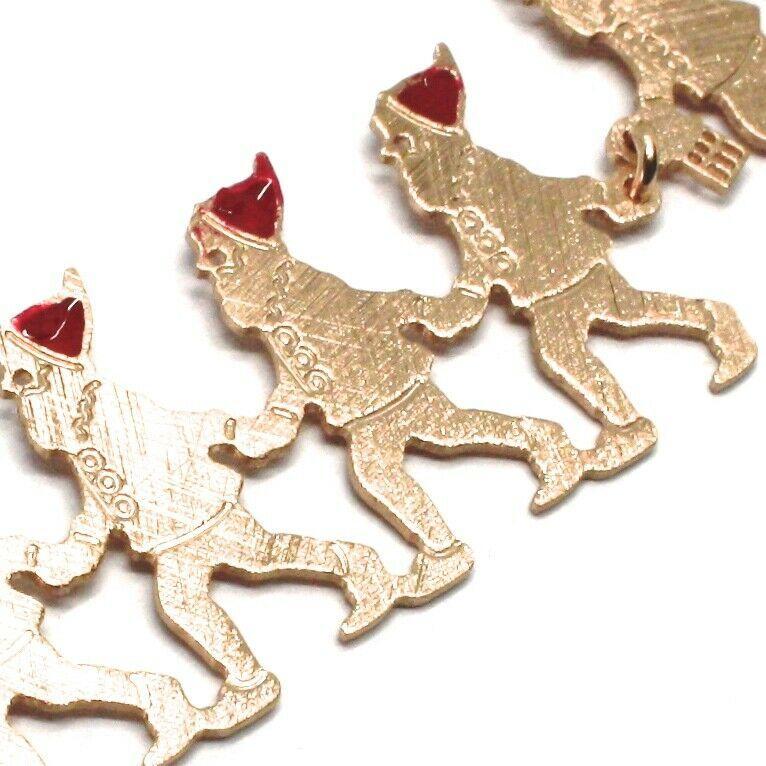 Silver 925 Bracelet, Seven Dwarfs in a row, Jewelry le Favole