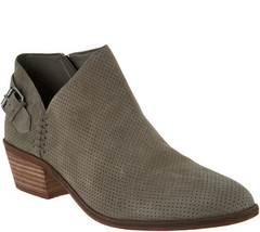 Vince Camuto Suede Booties with Buckle Detail - Parveen Foxy 9 M - $69.29