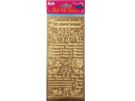 Best Creations Peel-Off Stickers, Congratulations, Gold #POS-085G
