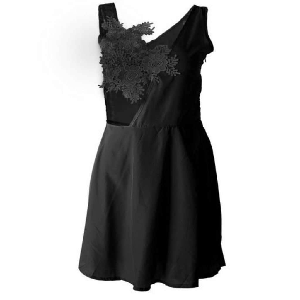 Novelty Floral Lace Skater Dress