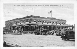 Bay View Hotel Pamlico Washington North Carolina 1930s postcard - $6.44