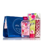 4 Piece Bath & Body Works Sweet Pea Glam Emoji Bag Gift Set  Bag Mist Ge... - $35.95
