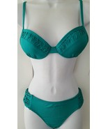 Apt. 9 Swim Bikini 2 Pcs Set Underwire Push-Up Top Bottom Solid Emerald ... - $19.99