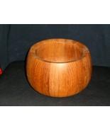 """DANSK Teak Wood """" Wide Serving Bowl Salad 5 1/2"""" x 4"""" - $24.74"""