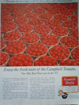 Campbell Baskets of Tomatoes Print Magazine Advertisement 1967 - $5.99