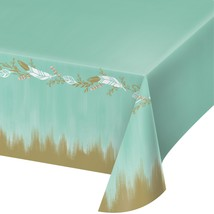 "Mint To Be 54"" x 102"" Plastic Tablecover All Over Print/Case of 6 - €55,64 EUR"