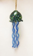 Handblown Glass Jellyfish Ornament  Suncatcher #8 - $32.00
