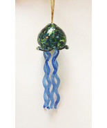 Handblown Glass Jellyfish Ornament  Suncatcher #8 - £23.49 GBP