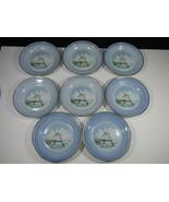 SET OF 8 - Bing Grondahl Dessert Plates Dybbolc Molle - Landmarks of Den... - $78.40