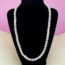 "Vintage Rose Quartz Crystal Beaded Statement Necklace Healing & Peace 22"" Long - $12.97"