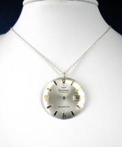 Necklace Steampunk Vintage Watch Part Wheels Gears Rhodium Chain 1970s U... - $28.00