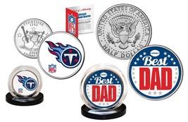Best Dad - TENNESSEE TITANS 2-Coin US Set Quarter & JFK Half Dollar NFL ... - $14.80