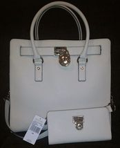 MICHAEL KORS HAMILTON LARGE ECRU BEIGE TOTE BAG & MATCHING WALLET SET $5... - $348.00