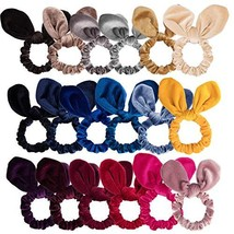 Ahoney 18 Pack Hair Scrunchies Velvet Scrunchy Hair Bobbles Elastic Hair... - $12.76