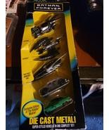 5 diecast metal batman forever vehicles - $27.99