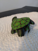 Unique Colorful Turtle Brooch Small Pin Turtle w/ Enamel Shell  image 2