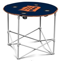 Picnic Table Decorations, Logo Detroit Tigers Blue Dining Camp Round Tables - $47.79