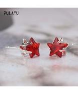 Hot Sale Star Earring For Girl mm Crystal Stud Earrings Geometric Rhines... - $20.00